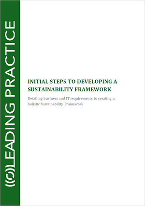 Initial Steps To Building A Sustainability Framework